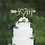 Thumbnail: Personalized Initial Wedding Cake Topper
