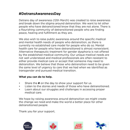 TReVoices is supporting DetransAwarenessDay. Ways To Raise Awareness-To Do's To Help-Keep SCREAM