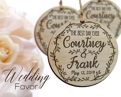 Best Day Ever Wedding Favor Ornaments