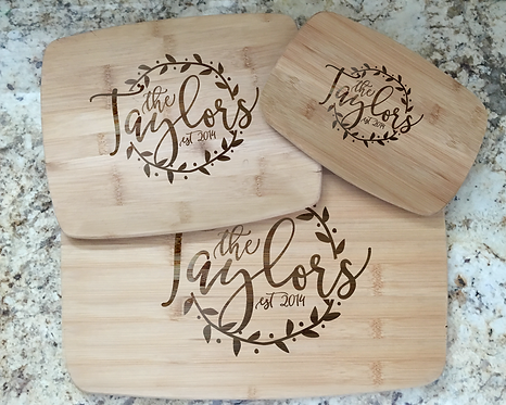 Personalized Cutting/Cheese Boards