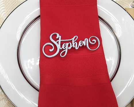 Personalized Wooden Name Tags, Wedding Place Seating Signs