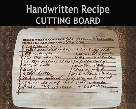 Personalized Handwritten Recipe Cutting Board