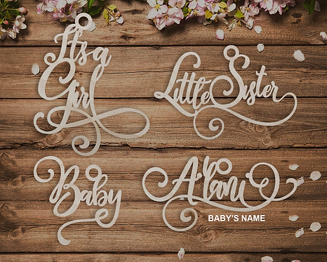 Hanging Personalized Wooden Shower Tags, Wedding Place Seating Signs