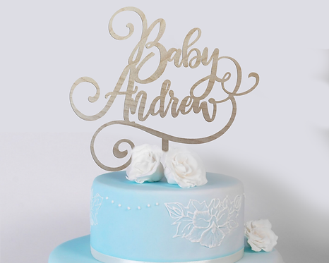 Baby Name Baby Shower Cake Topper