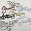 Thumbnail: Personalized Wooden Name Tags, Wedding Place Seating Signs