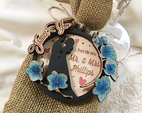 Hand Painted 3D, Thank You Wedding Favor