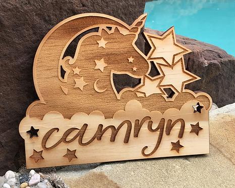 Personalized Unicorn Name Plaque