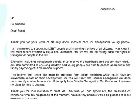 Minister Liz Truss As A Transman, I Have Some Concerns With Your Reply To Susie Green Of Mermaids UK