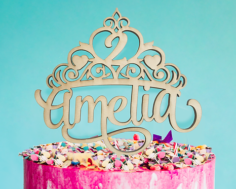 Personalized Princess Birthday Cake Toppers