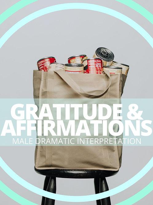 Male- Gratitude & Affirmations