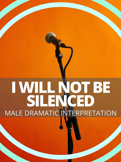 Male- I Will Not Be Silenced