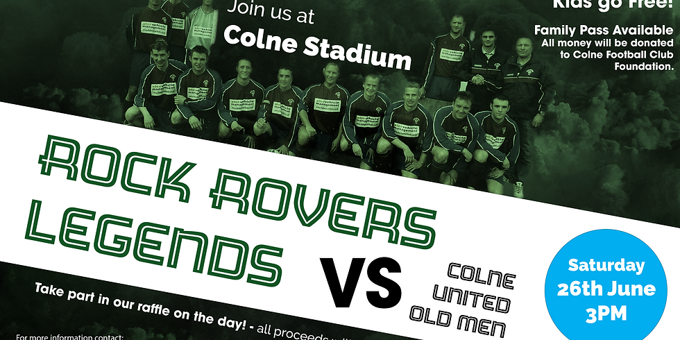 Charity Event - Rock Rovers Legends vs Colne United Old Men