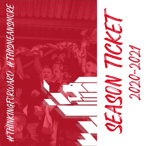 2020/21 Season Ticket - Full Payment
