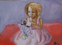 Scarlett with Doll #2
