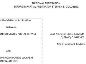 MS-1 Handbook Arbitration Decision
