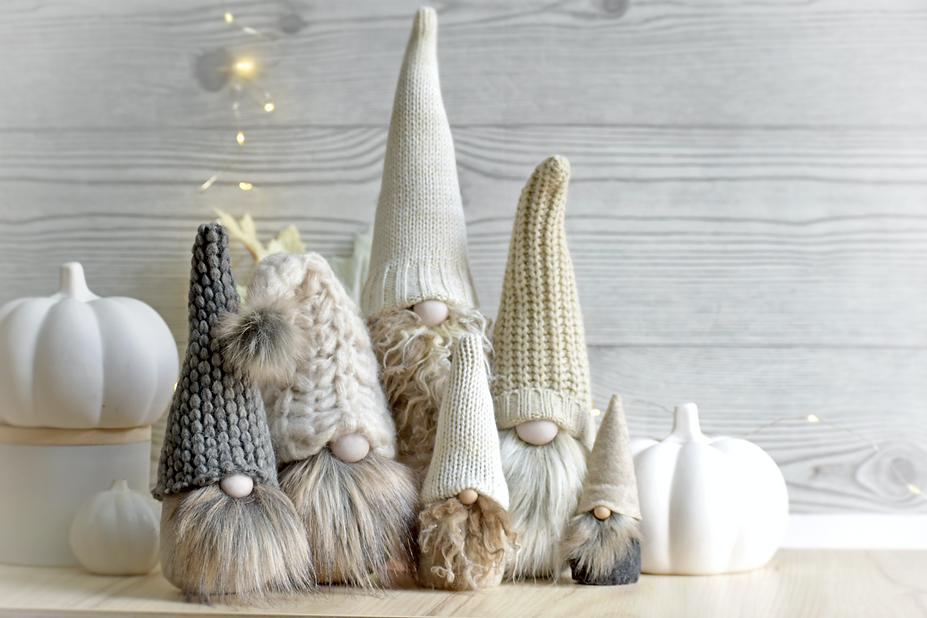 Autumn Home Decor, Neutral Scandinavian Gnomes by Nordichrista