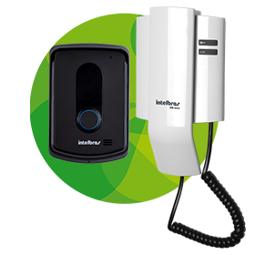 Interfone Intelbras IPR 8010 c, fone branco