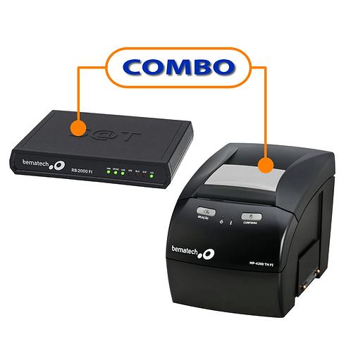 Kit SAT Fiscal RB-2000 FI + Impressora Não Fiscal Térmica MP-4200 TH
