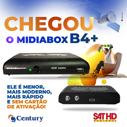 Receptor  Midiabox B4+ Hd Digital Tv Sat Regional