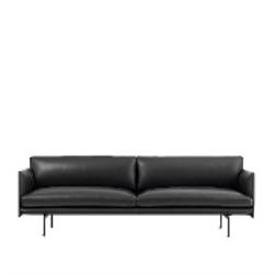 Muuto Sofa Outline Leather Black