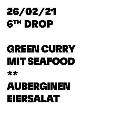 GREEN CURRY MIT SEAFOOD * AUBERGINEN EIERSALAT