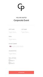 Basic event registration form
