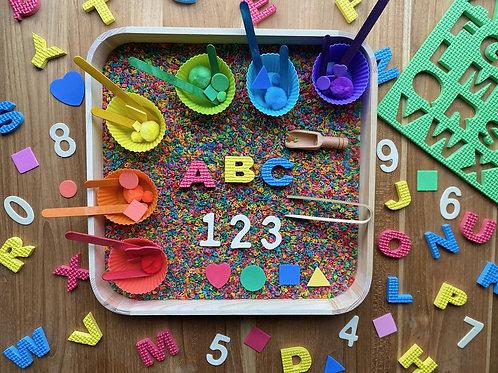 ABC/123 Sensory Box