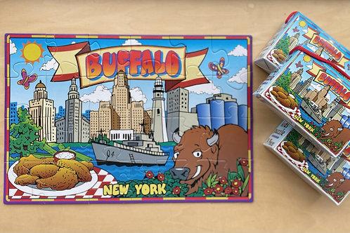Buffalo Puzzle Box