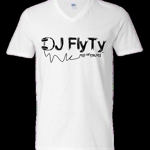 V-Neck T-Shirt/Short-Sleeve DJ Fly Ty Logo