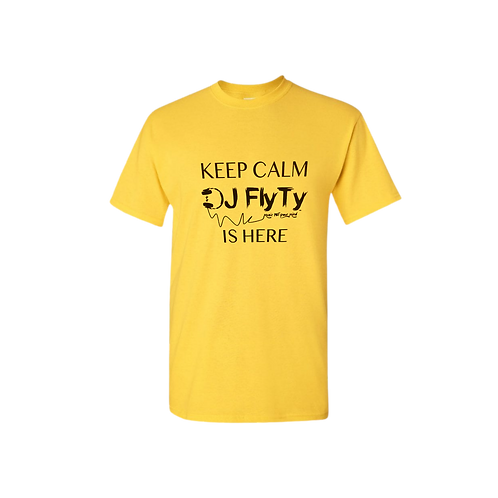 Short-Sleeve Keep Calm DJ Fly Ty Logo