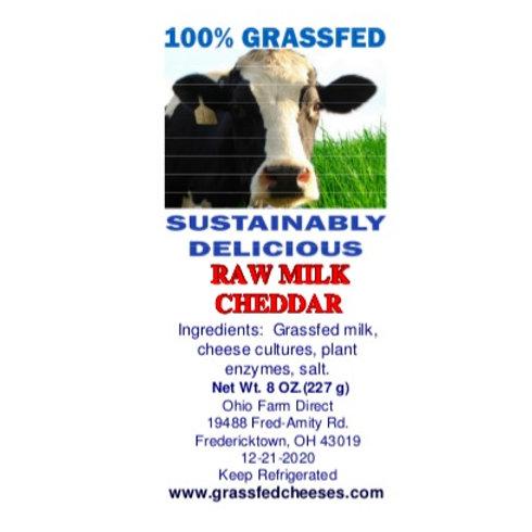 Raw Milk Cheddar Grassfed Cow's Milk Cheese 1