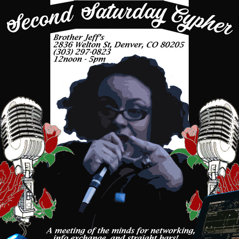 Second Saturday Cypher and Symposium Flyer