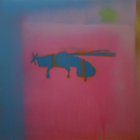 Flying colours, 40x40 cm