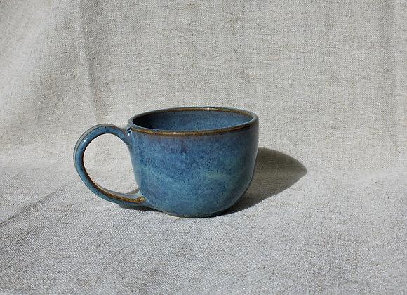 Pleasant Day Blue Cappuccino Mug