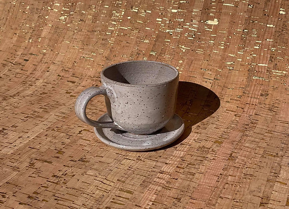Speckled Cup and Saucer