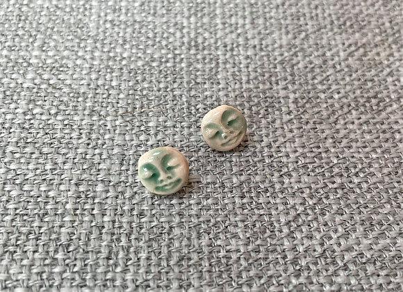 Green Moon Earring