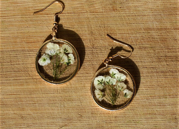 Champagne Baby's Breath Earring