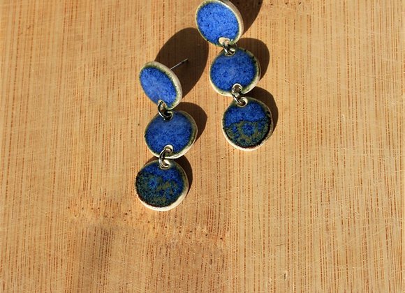 3-tier Blue Bird Earring