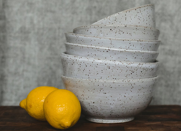 Cream Speckled Bowls