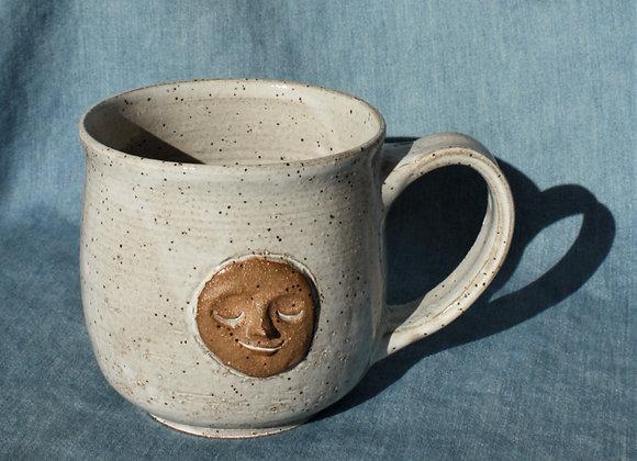 Speckled Cream Moon Mug