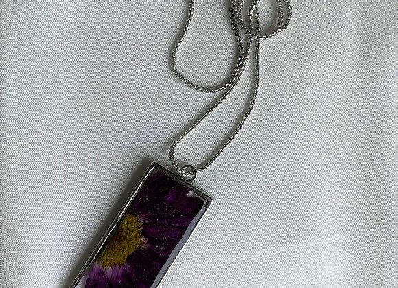Purple Floral Pendant