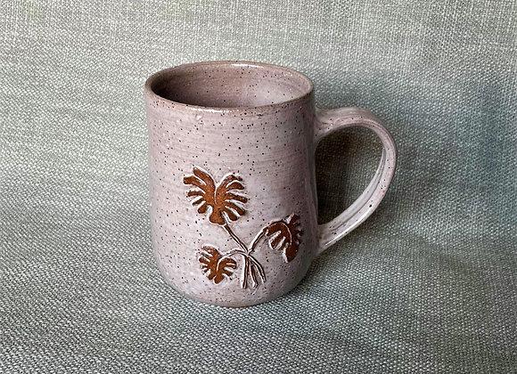 Cream Monstera Mug