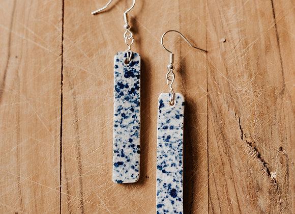 Blue Dalmatian Earrings