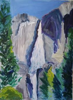 Yosemite Falls, 40 x 30, collection of