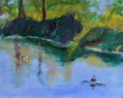 Kayaker with Ducks