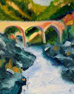 Auburn Bridge w/Bathers