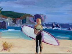 Surfer Girl, 9 x 12. $300