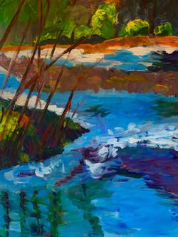 River Light, 40 x 30, SOLD