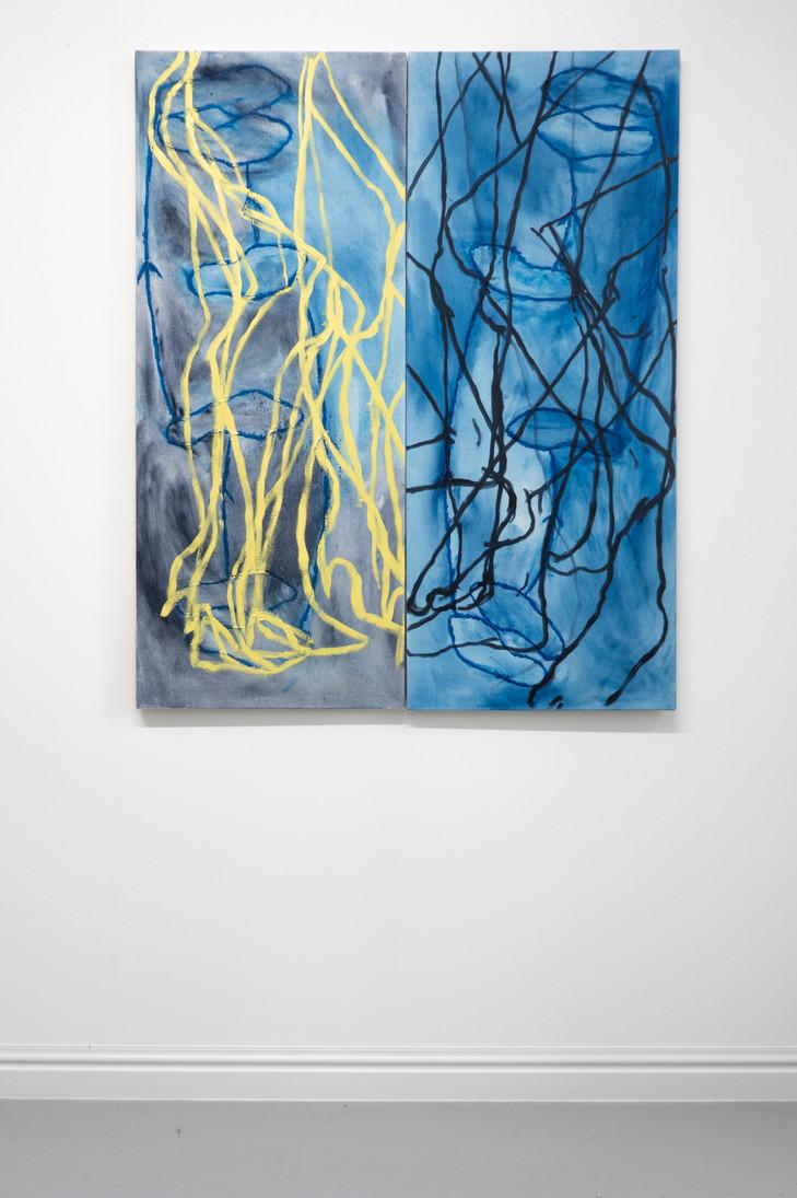 Eleanor Wang, Pair of Legs, Oil on canvas