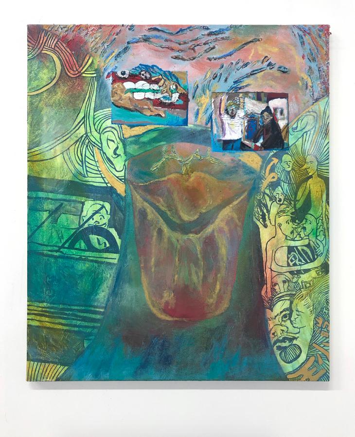 Eleanor Wang, Sunglasses, 2019. Oil on canvas.